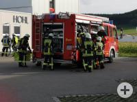 Herbstübung Feuerwehr Balgheim vor der Firma Hohl
